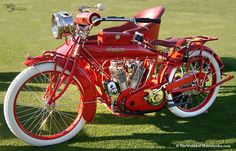 1915 Indian Twin 1000cc Motorcycle & Sidecar