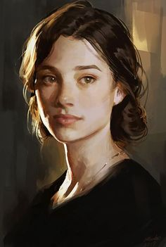 Photo Portrait, Portrait Art, Digital Portrait Painting, Character Portraits, Character Art, Art Sketches, Art Drawings, Pretty Art, Aesthetic Art