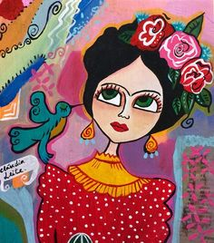 Frida Kahlo Painting by Claudia Leite