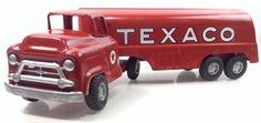 Lot 1285: Vintage Buddy L Tin Toy Red Texaco Tanker Truck December 19, 2015