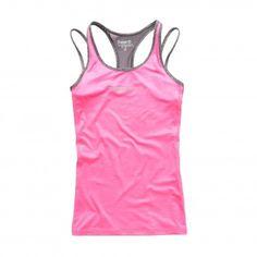 Superdry Gym Duo Strap tanktop dames neon pink De Wit Schijndel #superdry @Superdryglobal #fitness #sport