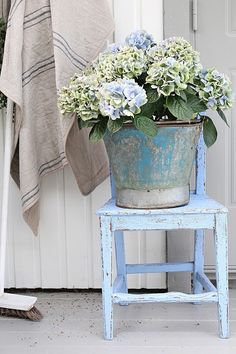 flowers.quenalbertini: Vibeke Design - Simple and blue at the door!