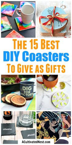 15 DIY Coasters That Make Great Gifts