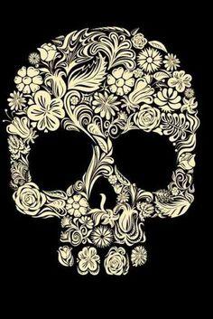 Perfect girly skull tattoo