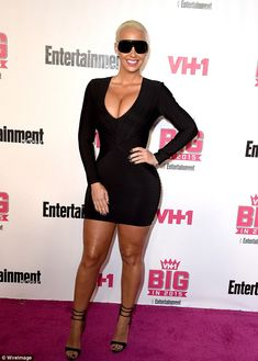 Making an impact: Amber Rose let her curvaceous body do the talking at the VH1 Big In 2015 Awards in West Hollywood, California, on Sunday night