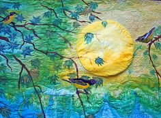 stunning art quilt using painted, not dyed, fabric - Moon Song by Barbara Harms