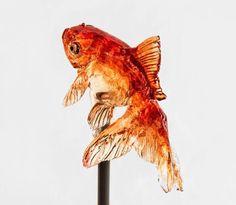Japanese candy sculpture (amezaiku) at New York Design Week 2015