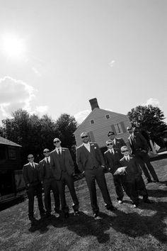 Groomsmen picture-  Old Bethpage Village Restoration