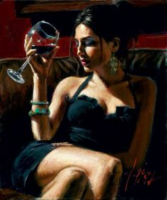 "*Painting - ""Tess IV"" by Fabian Perez"