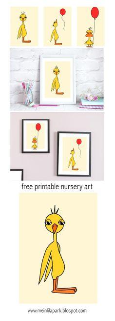 FREE printable nursery wall art | funny birds