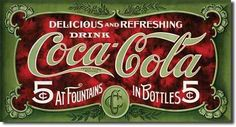 Old fashioned Coke sign