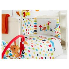 Red Kite cosi cot safari bedding set