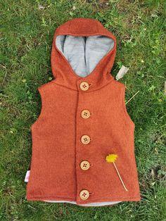 Vesta Lana fiarta RUST dublata cu jerse de lana gri 100% lana | Breslo Wool Vest, Marketing And Advertising, Lana, Gifts For Kids, Rust, My Etsy Shop, Cold Shoulder Dress, Walking, Jackets