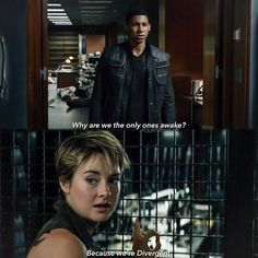 Uriah and Tris in Candor! Uriah was the best in the movie and is now the best in the movie. I love him so much here