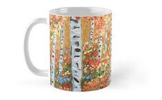 coffee mug Autumn Aspens ceramic ware home & living by ArtbyKatsy