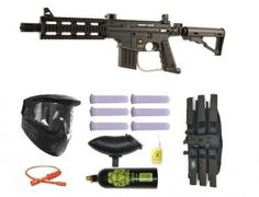 US Army Project Salvo Paintball Marker Gun 3Skull Mega Set
