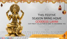 Check Our Latest Collection In Goddess Laxmi In Display Are Sure To Mesmerise You.