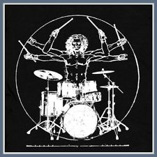 Da Vinci Drums T SHIRT nwt new vintage Drum Man guitar pearl rock kit band TEE