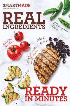 Discover real ingredients in easy-to-make dinners from SmartMade - convenient, low calorie and delicious. Tap the Pin to learn more. Oats Recipes, Pork Recipes, Diet Recipes, Vegetarian Recipes, Healthy Recipes, Halibut Recipes, Chicken Salad Recipes, Chocolate Slim, Easy To Make Dinners