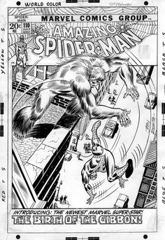 Here's the cover to AMAZING SPIDER-MAN #110 by John Romita. This was the last issue of the series scripted by Stan Lee.