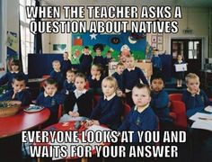 How it was being native American in school.