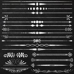 Clipart Chalkboard Page Text Dividers by JubileeDigitalDesign