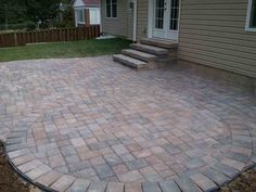 front porch pavers interesting outdoor flooring design using patio step gorgeous backyard decoration with patio step diy front porch pavers Patio Steps, Brick Steps, Stone Steps, Outdoor Tiles Floor, Outdoor Flooring, Porch Flooring, Outdoor Handrail, Flagstone Pavers, Paver Designs