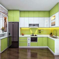 Simple Kitchen Design, Kitchen Room Design, Interior Design Kitchen, Kitchen Decor, Kitchen Cupboard Designs, Kitchen Modular, Modern Kitchen Interiors, Cuisines Design, Furniture Stores
