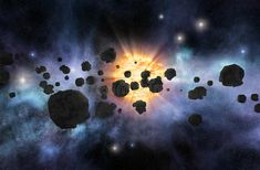 Photo about Asteroid belt with bright star and nebulae on background. Image of astronomy, apocalypse, science - 66307479 Champs, Asteroid Belt, Hubble Space Telescope, Our Solar System, Bright Stars, Live Wallpapers, Cool Patterns, Astronomy, Fields