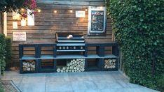 Diy Outdoor Kitchen, Outdoor Cooking, Outdoor Decor, Barbacoa Jardin, Outdoor Spaces, Outdoor Living, Brick Bbq, Garden Spaces, Backyard Patio