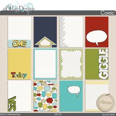 Comic Journal Cards :: Journaling Cards :: The Digichick Shop