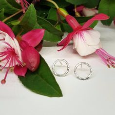 Eternal Studs with Hammered Finish in Sterling Silver – by Anni Anni Sterling Silver Earrings, Studs, Polish, Stud Earrings, It Is Finished, Simple, Vitreous Enamel, Stud Earring, Stud Earring