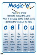 Posters for magic 'e' and bossy 'e' Phonics Books, Abc Phonics, Phonics Reading, Jolly Phonics, Phonics Worksheets, English Phonics, Teaching English, Magic Words List, School Age Activities