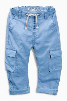 Blue Drop Crotch Trousers (3mths-6yrs)