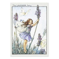 The Lavender Fairy. Vintage flower fairy art by Cicely Mary Barker. Taken from 'Flower Fairies of the Garden'. Click through to the link to see the accompanying poem. Cicely Mary Barker, Elfen Fantasy, Fantasy Art, Fantasy Fairies, Flower Fairies, Vintage Wall Art, Vintage Prints, Vintage Paper, Decoupage