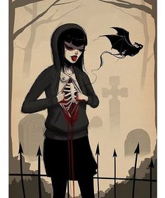 """Awesome digital art by @justinonealart """"dark hearts"""" . . . #beautifulbizarremagazine #contemporaryart #darkart #gothicart #digitalart #kawaii #animegirl #bat via BEAUTIFUL BIZARRE MAGAZINE official Instagram - #Beauty and #Fashion Inspiration - Beautiful #Dresses and #Shoes - Celebrities and Pop Culture - Latest Sales and Style News - Designer Handbags and Accessories - International Advertising Campaigns - Gifts and Bargain #Shopping Guide - Famous Luxury Brands on Instagram - Trendsetters…"""
