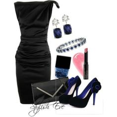 Blue & Black Evening Attire