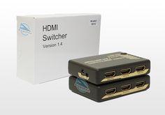 Chaveador HDMI 4K-2K 5x1 portas, com controle e IR da Protech. PE-PET0501S
