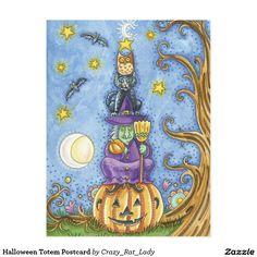 Halloween Totem Postcard