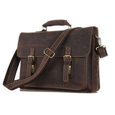 Image of Handcrafted Genuine Leather Briefcase Messenger Bag Laptop Bag  Shoulder Bag Men s Handbag e8da86bab9965