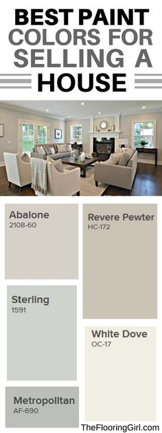 What are the best paint colors for selling your house. Best paint colors for selling your house. Best Paint Colors, Paint Colors For Home, Living Room Paint Colors, Interior House Paint Colors, Popular Paint Colors, Wall Paint Colors, Paint For House, Best Paint For Walls, Paint Colors For Hallway