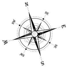 """Fotomural """"compás, grado, norte - compass rose"""" ✓ Amplia selección de materiales ✓ Impresión 100% ecológica ✓ ¡Comprueba las opiniones de nuestros clientes!"""