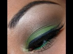 green and brown eyeshadow