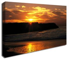 Simply Canvas have a variety of seascape canvas prints. Original wall art from Wall Prints, Canvas Art Prints, Canvas Wall Art, Ocean Rocks, Sunset, Outdoor, Products, Sunsets, Outdoors