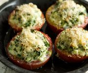 Stuffed Baked Tomatoes - Tomatoes have a lot of carbs, but maybe peppers instead. Still YUM!