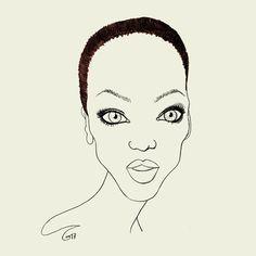 © Tó Campos > MISS TOPS > Miss Banks.    #tocampos#moda#fashion#fashionart#fashionillustration#tyrabanks#tyra banks#tyra#banks#top#top model#model#modelo#pencilart#pencil#iconicmodel#iconic#dibujosalapiz#dibujo#90s#blackmodel#misstopsbytocampos#to#campos