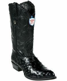 Wild West Black Genuine Eel Western Cowboy Boot