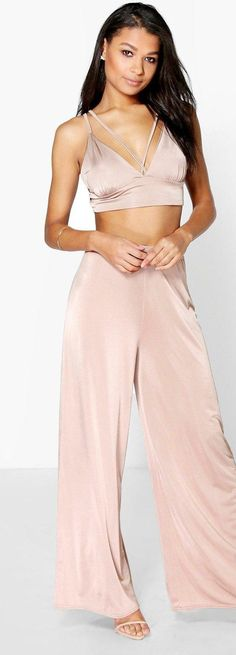 Liza Strap Bralet & Palazzo Pant Co-Ord Set - Co-ordinates  - Street Style, Fashion Looks And Outfit Ideas For Spring And Summer 2017