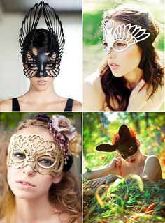 Masquerade masks will probably be in the centerpieces at my wedding