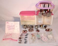 Kitchen Littles Kitchen Island Playset by Tyco, 1996 - I have this island, but not all of the accessories.